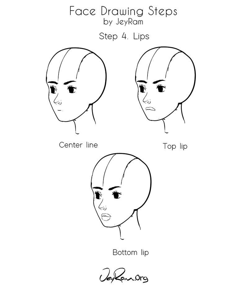 How to Draw a Female Face: Step by Step Tutorial for ...
