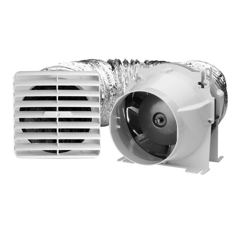 Ixl 170mm Ventair Easy Duct Exhaust Fan Exhaust Light Bathroom