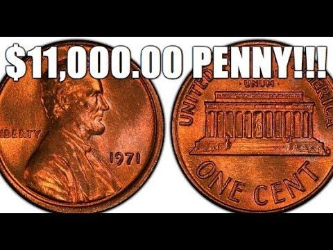 $11,000.00 1971 Penny! How To Spot This Rare & Valuable Lincoln Cent! - YouTube
