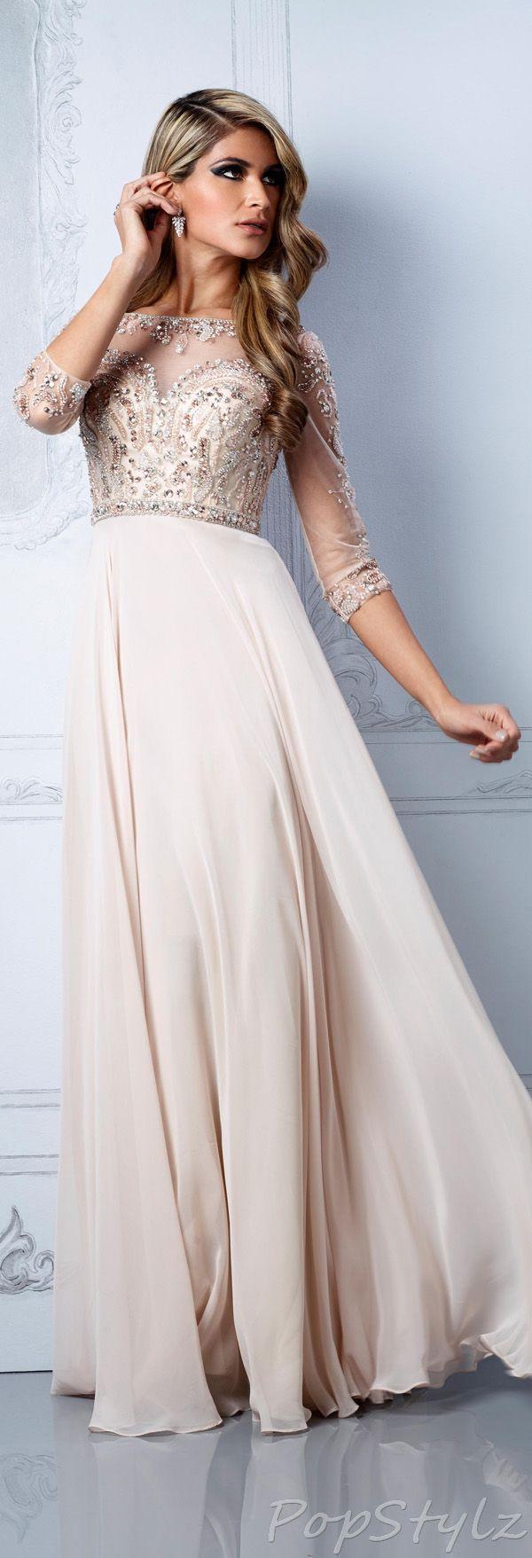 Beautiful romantic modest dress for a simple elegant wedding sheer
