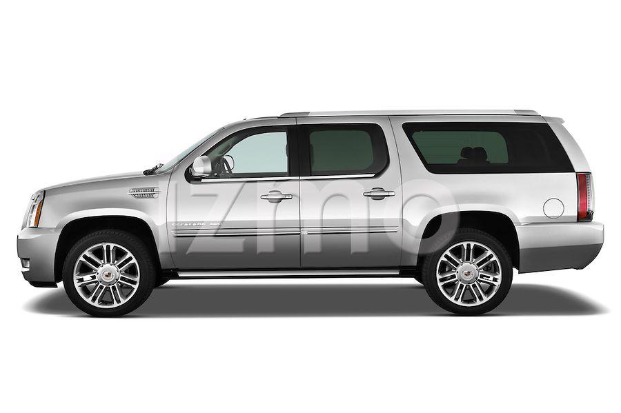 Side view of silver 2014 Cadillac Escalade ESV Premium SUV