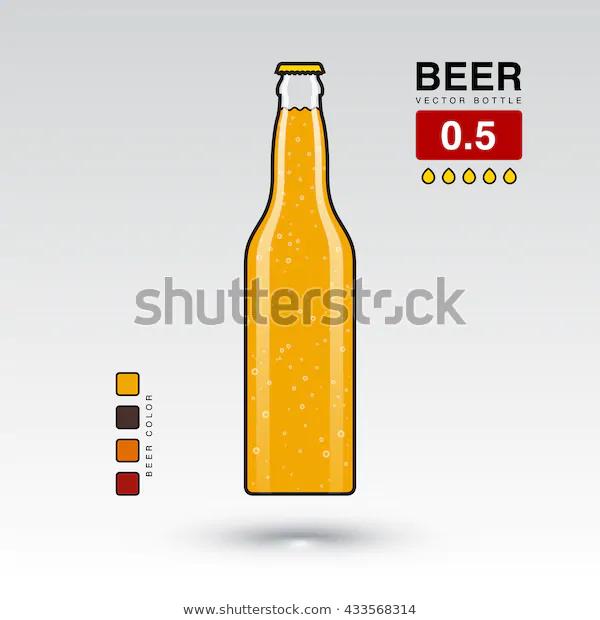Beer Bottle Vector Illustration 0 5 L Shutterstock Vector Illustration Beer Vector Beer Bottle Bottle