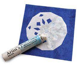 cómo pintar sobre tela con un palo de pintura y de la plantilla