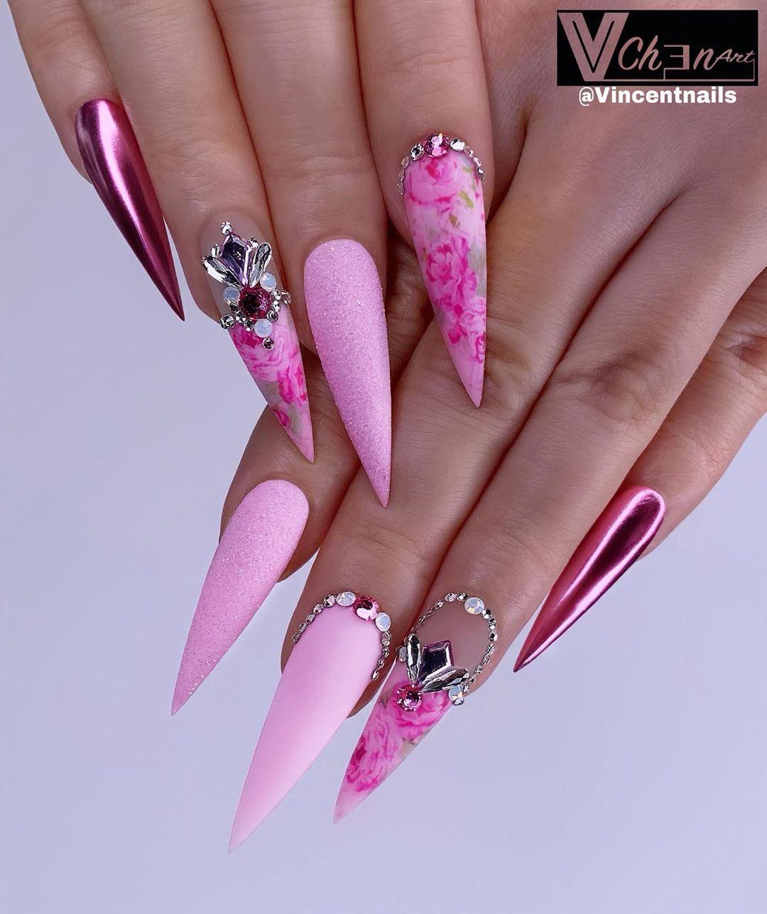 Keep Calm And Wear Pink Nails Vchenart Vchenart Nailsofinstagram Nails2inspire Stilleto Manicura De Unas Manicura Unas