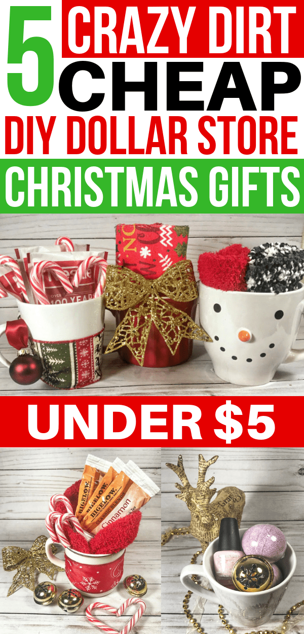 5 Cheap DIY Christmas Gifts From The Dollar Store Under $5 - Savvy Honey #cheapgiftideas