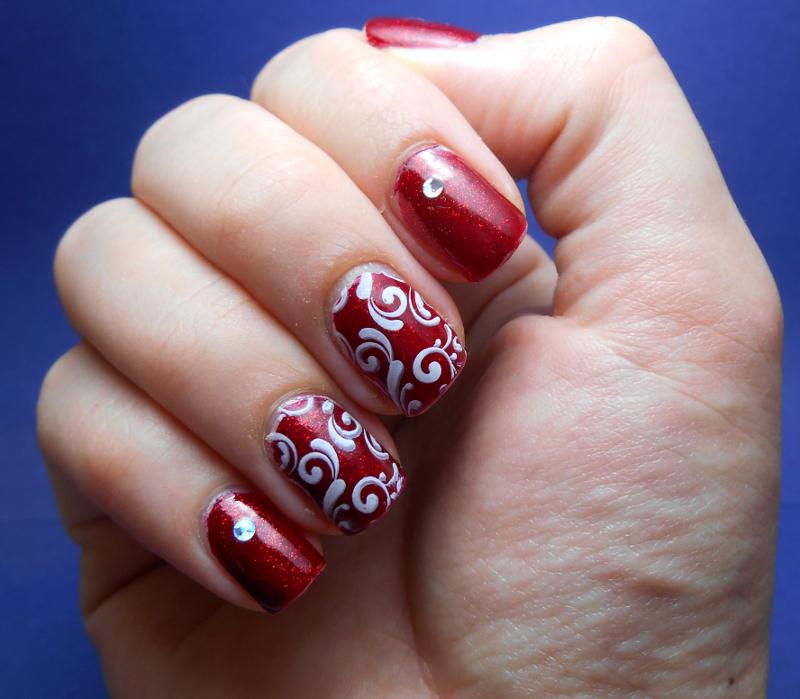 China Glaze Ruby Pumps  #christmas #nails