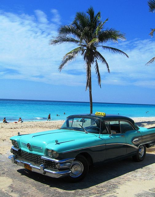 Taxi At The Beach Varadero Cuba