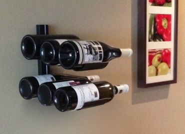Vmark 6 Bottle Wall Mounted Wine Display Rack This Rack Is Made Of Metal And Uses Only 10 Of Vertical Wall S Wine Display Wall Mounted Wine Rack Bottle Wall