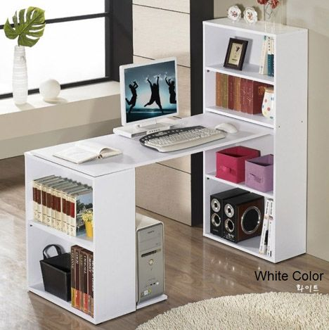 Study Table Divider Computer Desk Design Bookshelf Desk Bookshelves Diy