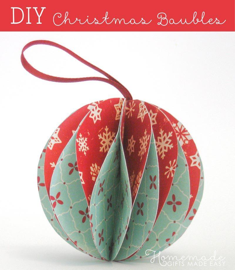 Easy To Make Christmas Ornaments Diy Christmas Ornaments Easy Paper Christmas Ornaments Handmade Christmas