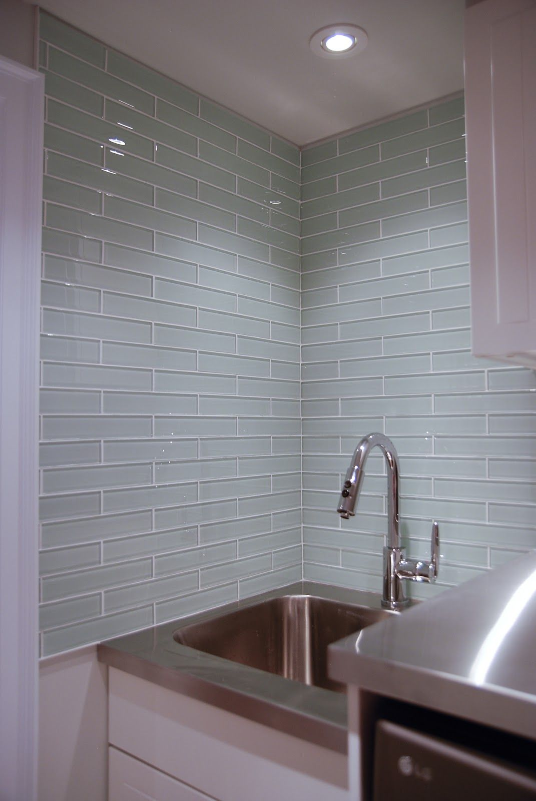 Badkamer 3x1 Glass Tile Laundry Room Backsplash Badkamer Badkamer Tegels