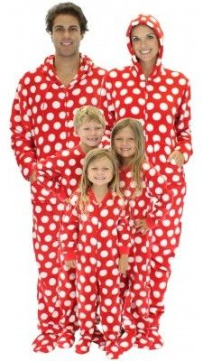 Holiday Matching Family Pajamas >> Red & White Polka Dot | Holiday ...