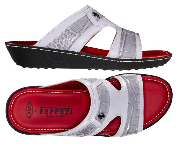 69b8665eeca Tod s celebrates the traditional Arabic men s sandal with a limited edition  for Ferrari! Grey Sandals