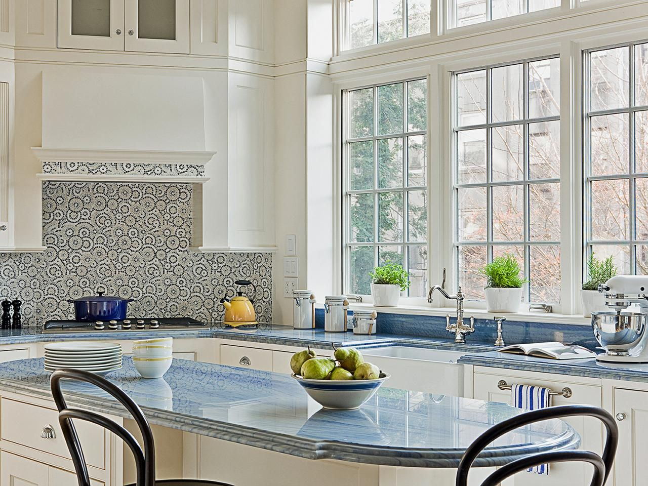 10 high-end kitchen countertop choices | shaker style, white