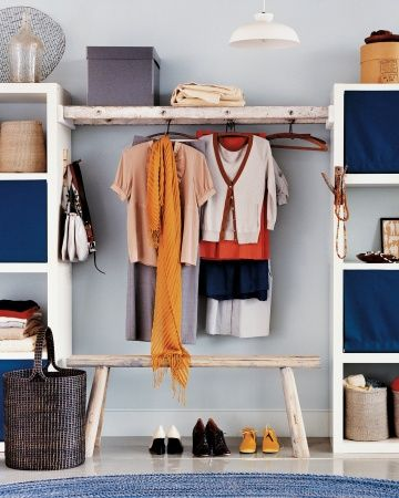 Show off your prettiest clothes with this walk by DIY walk-by closet!