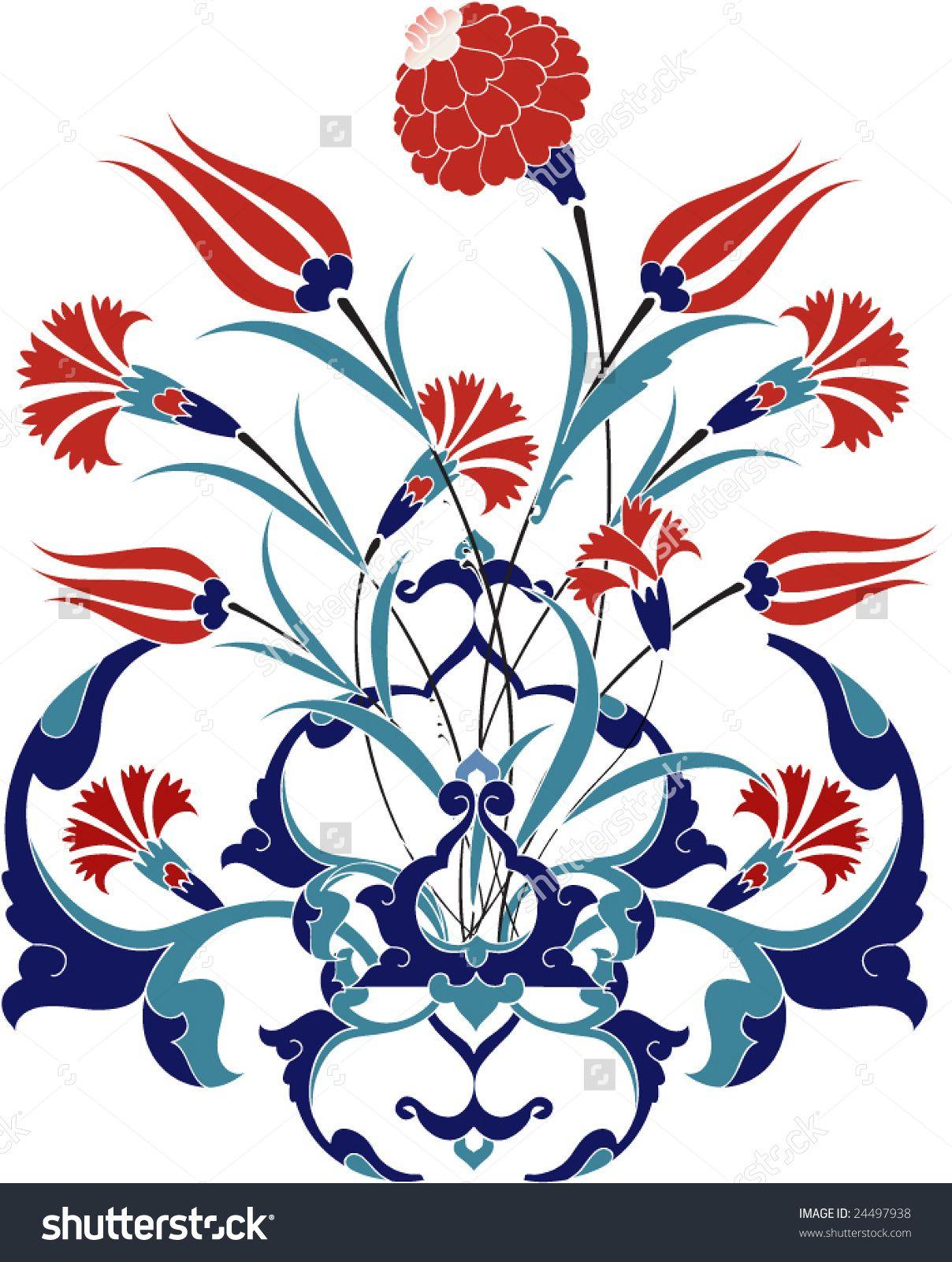 Traditional Ottoman Turkey Turkish Tulip Tile Design Tablolar Sanat Cizimler