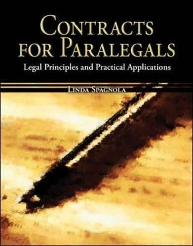 Contracts for Paralegals Legal Principles and Practical