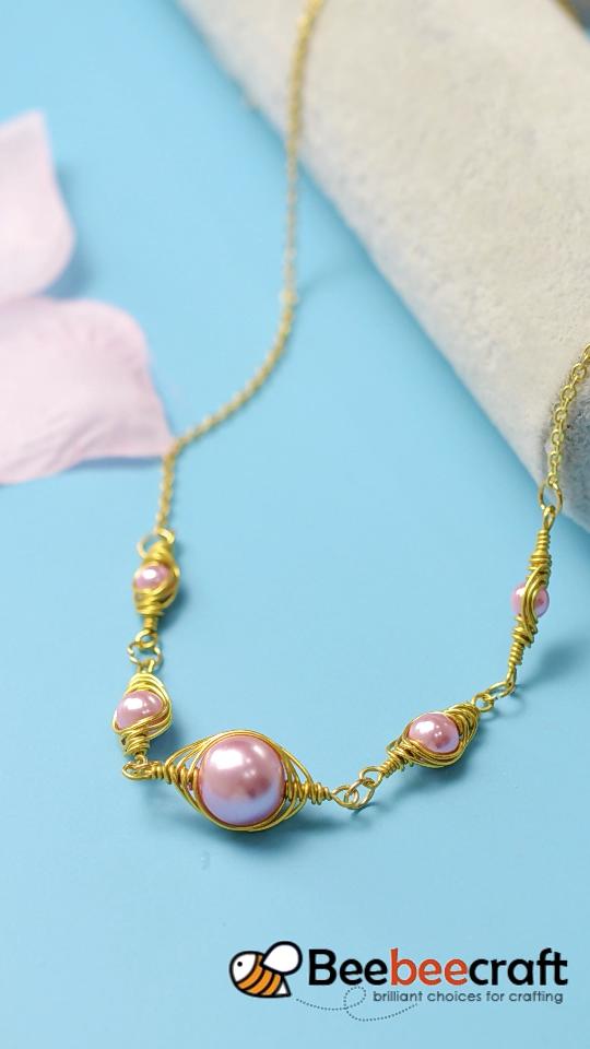Photo of #Beebeecraft idea on #necklace making with #pearl beads,  #beads #Beebeecraft #Idea #making #…