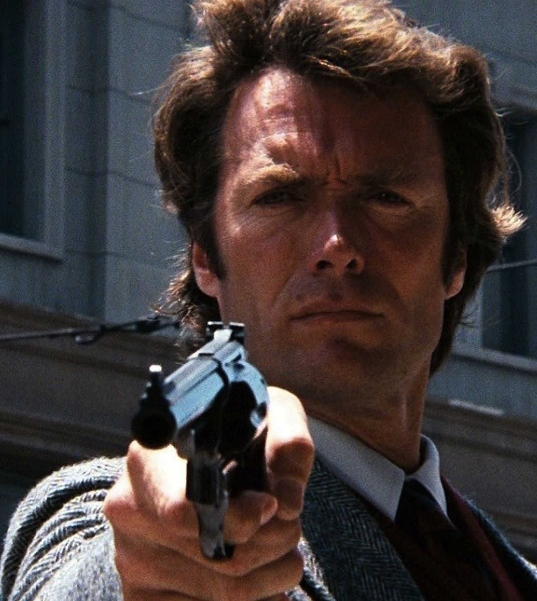 """Clint Eastwood, Dirty Harry """"...so you've got to ask yourself one question - do I feel lucky? Well do ya punk!"""" Enough said."""