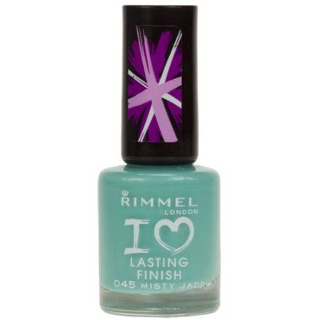 Rimmel Lasting Finish Nail Polish - 045 Misty Jade {my go too colour...shame it's discontinued :( }