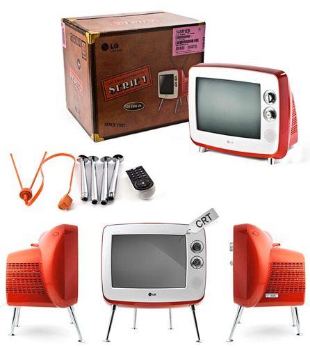 Retro Tv Televiseur Design Industriel Retro