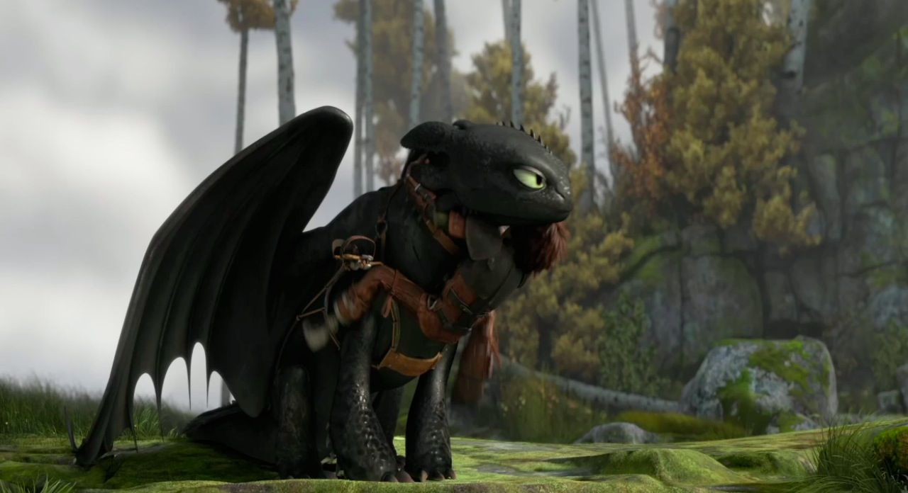 How To Train Your Dragon 2 Movie Trailer Hiccup Climbing Toothless