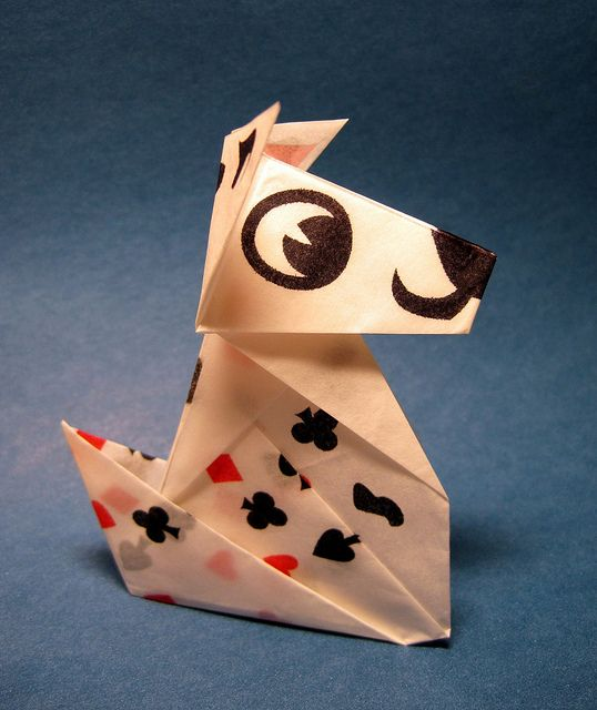 origami dog flickr photo sharing