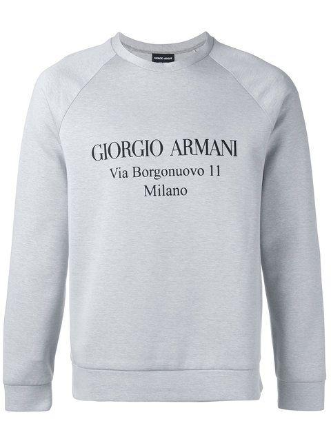 GIORGIO ARMANI logo print sweatshirt. #giorgioarmani #cloth #sweatshirt