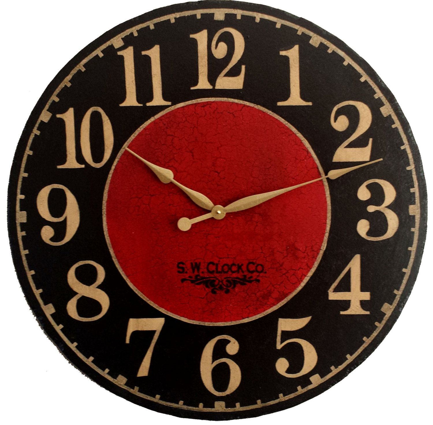 24 inch devonshire large wall clock antique style red by klocktime 24 inch devonshire large wall clock antique style red by klocktime marseille round dark black regular amipublicfo Gallery