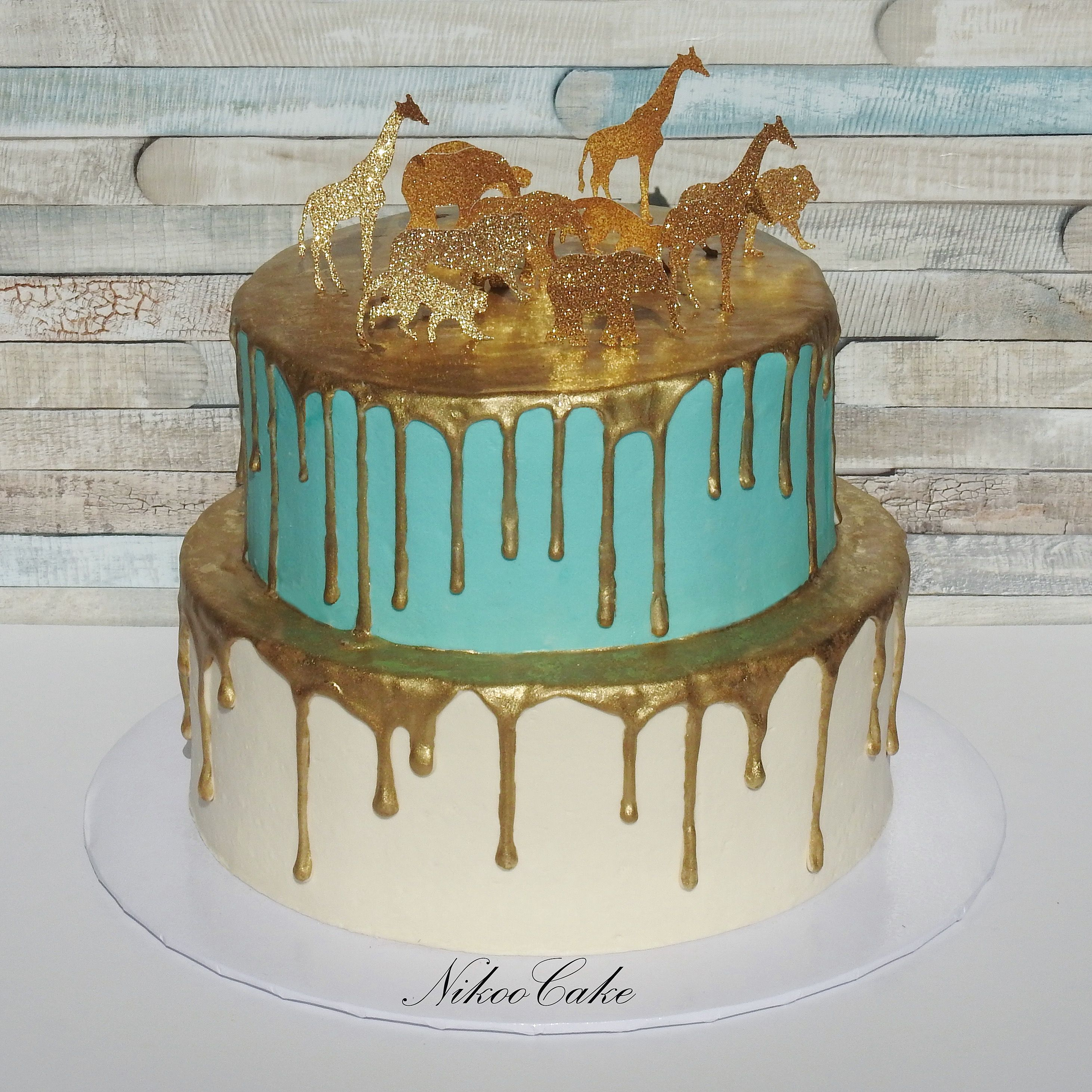 Indian Teal \u0026 Gold Baby Shower Cake ***Call me for your next