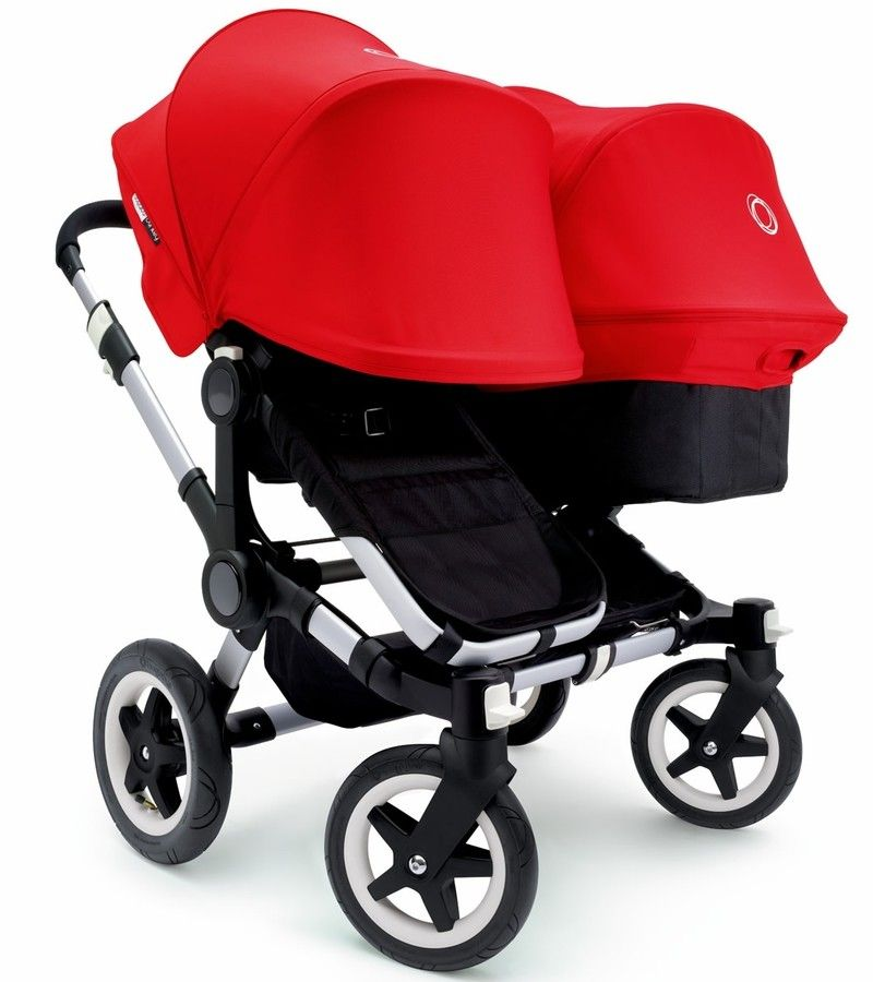2015 Bugaboo Donkey Duo Stroller Complete Black/Red