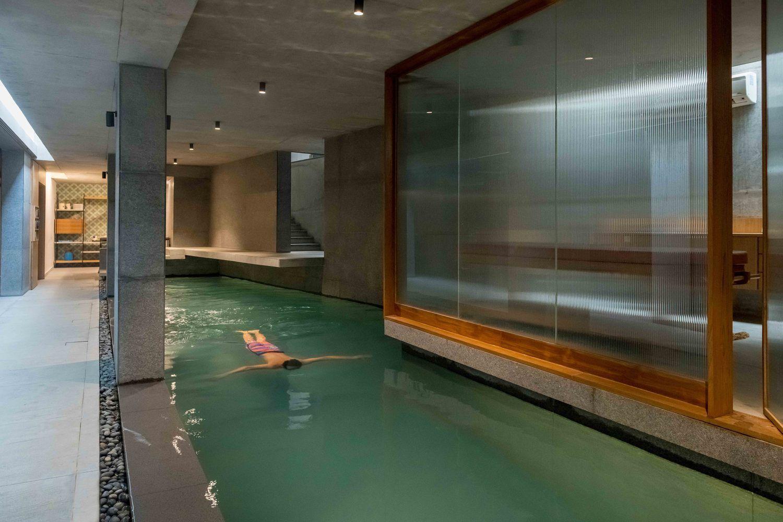 Gallery Of Saar Pool Spa For A Private Residence Vastu Shilpa Consultants 2 Underground Pool Spa Pool Indoor Pool