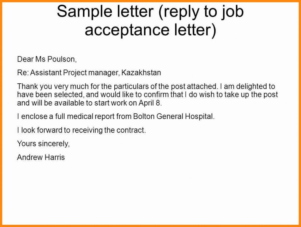 40++ How to reply an offer letter ideas