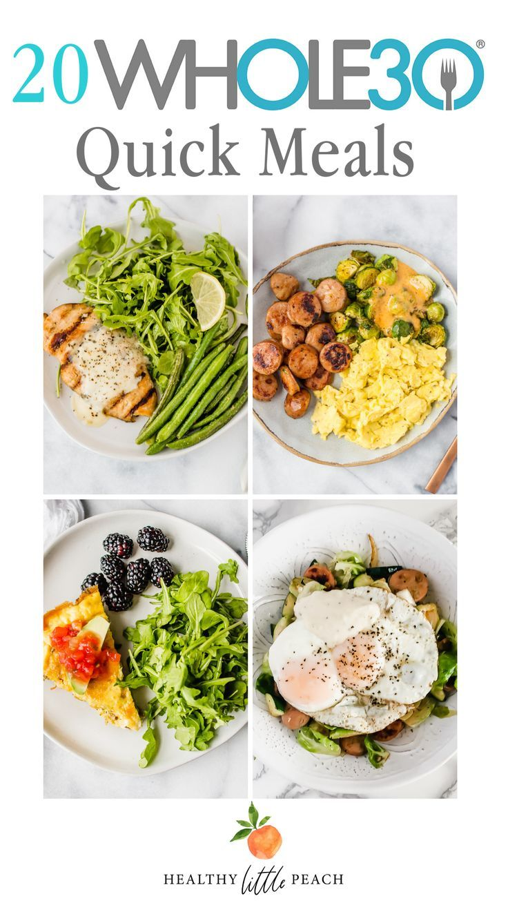 Whole30 Quick Meal Ideas - Healthy Little Peach
