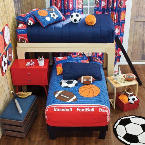 New Red Teens Girls Boys Sports Soccer Basketball Football Bunk Bed