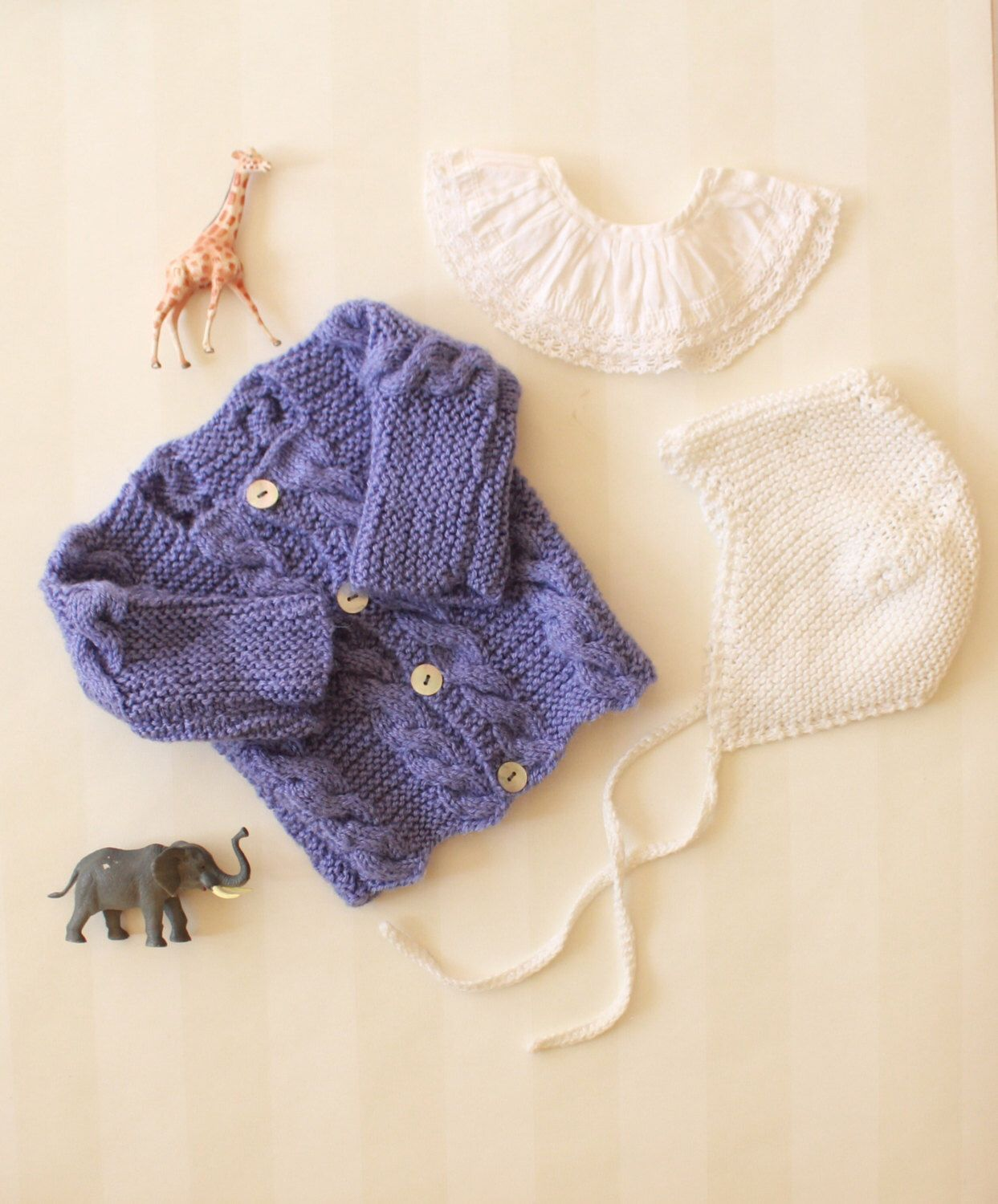 Vintage Baby Cardigan in Lavender Cable Knit 3-12 months ...