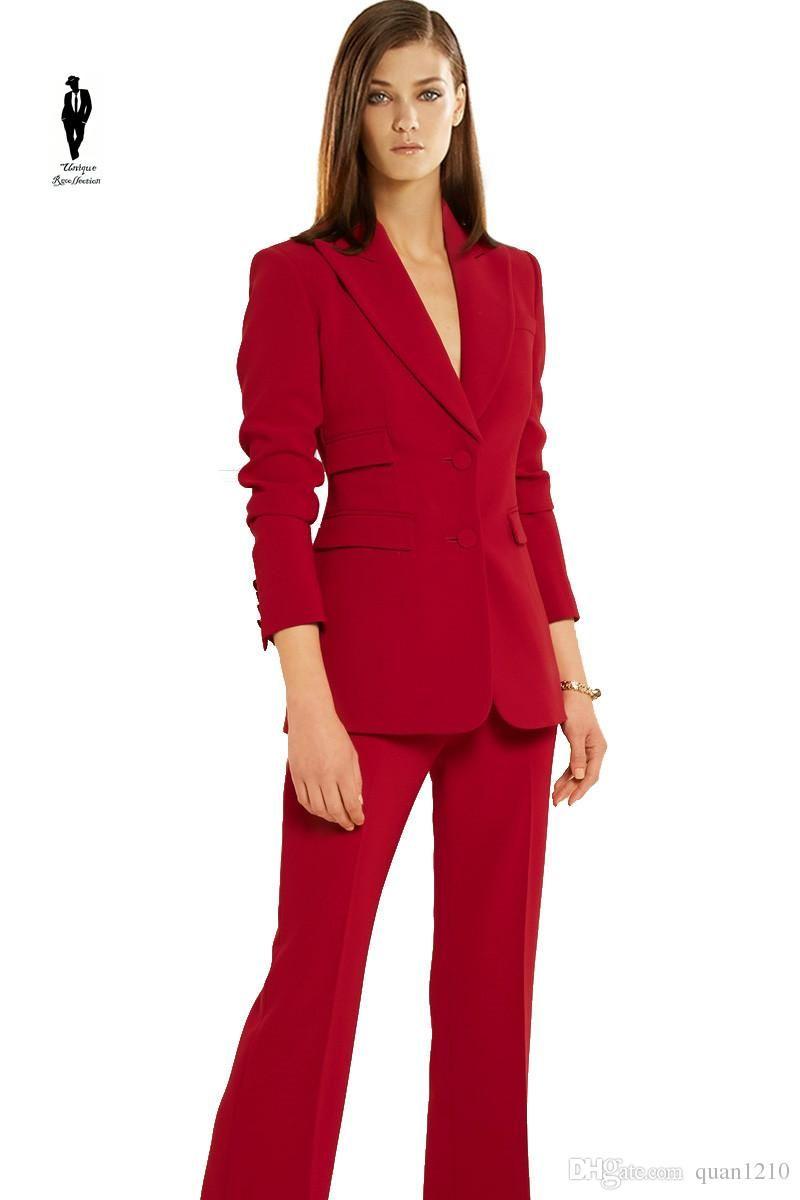 UR Formal Red Work Plus Size Formal Female Office Uniform Womens ...