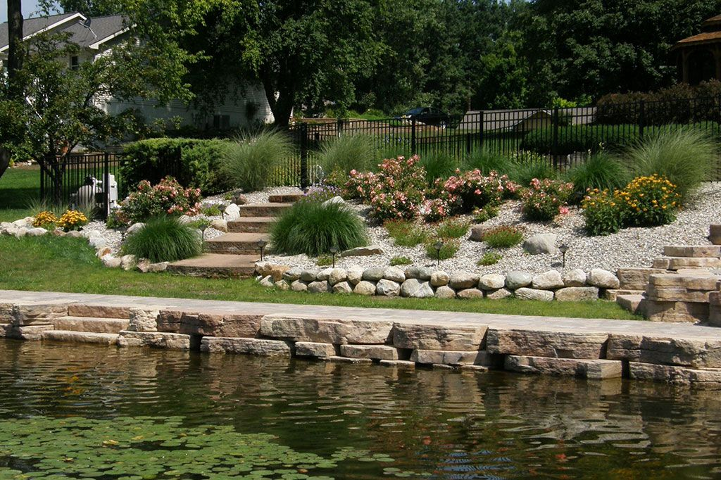 Residential Sea Wall Idea From Landscapingmichigan Com