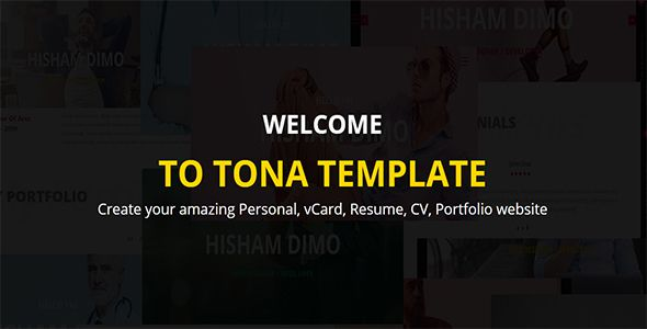 nice TONA - Private vCard Resume HTML Template (Portfolio - resume html template