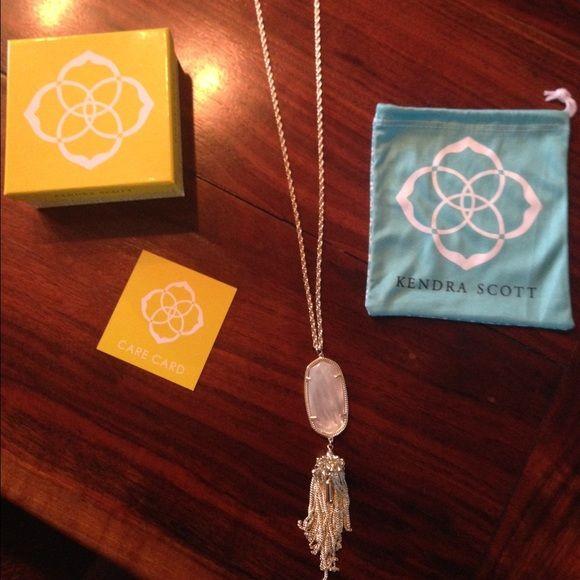 Selling this Kendra Scott rayne necklace in ivory pearl in my Poshmark closet! My username is: maddiroe2016. #shopmycloset #poshmark #fashion #shopping #style #forsale #Kendra Scott #Jewelry