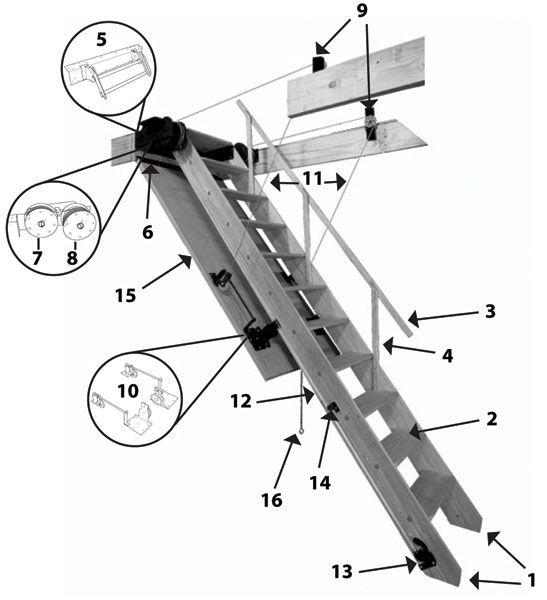 Best Bessler Stairways Replacement Parts 100 Stairs Attic 640 x 480