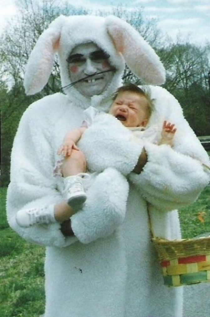 If You Cant Find Someone Who Looks Like Steve Buscemi Eugene - 26 creepy easter bunnies