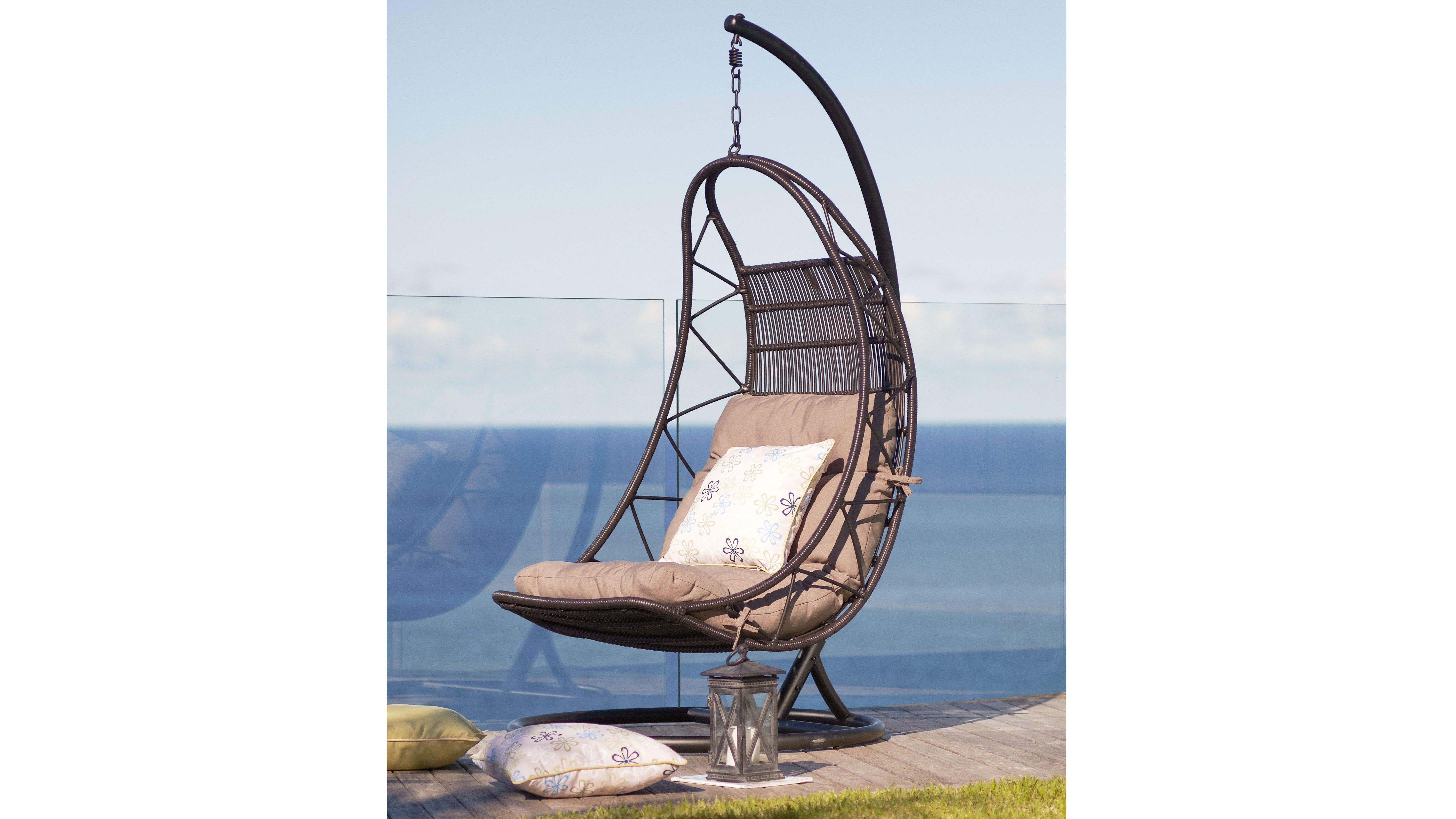 Odyssey outdoor egg chair chocolate furniture egg chairs