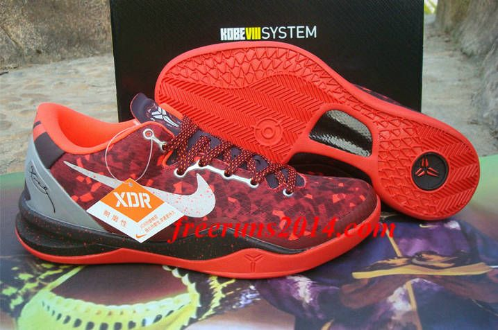 Nike Kobe 8 System XDR Year Of The Snake Port Wine Pure Platinum Team Red  Bright Crimson Shoes 6cb42ff64f0e