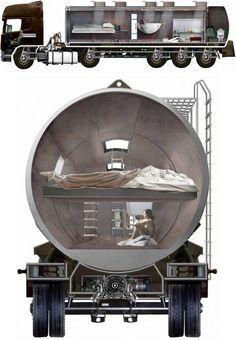 Turning Oil Tanker Trucks Into Homes