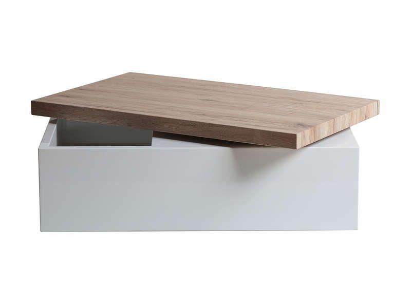 Table Basse Rectangulaire Coffre Helen Coloris Blanc Chene Vente De Table Basse Conforama Table Basse Table Basse Conforama Table Basse Rectangulaire