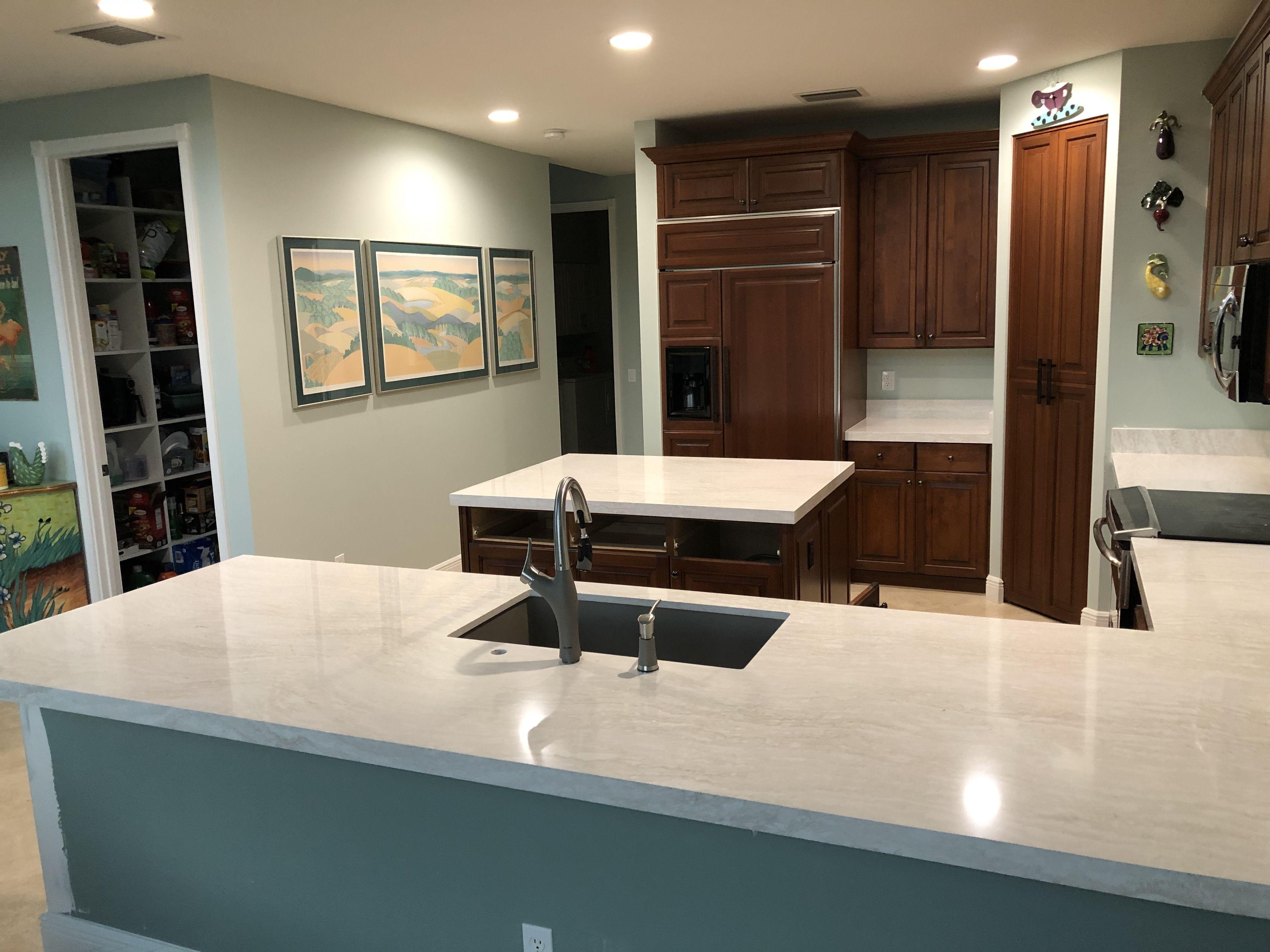 Cambria Ironsbridge Countertops In 2020 Countertops Quartz Countertops Dark Brown Kitchen Cabinets