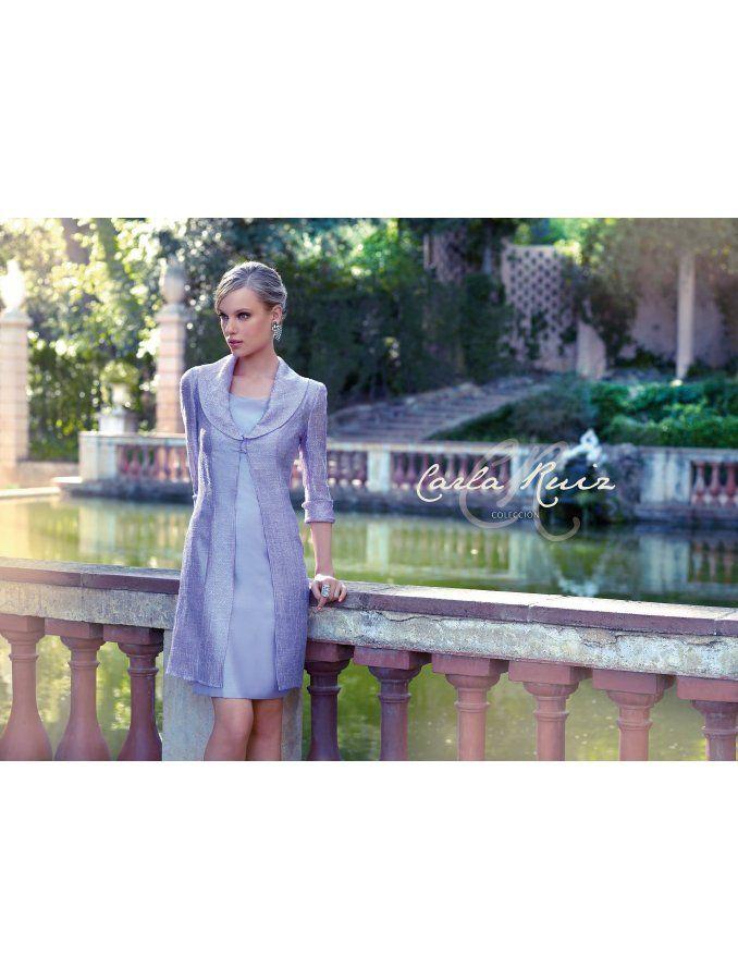 Carla Ruiz Dresses Carla Ruiz 90341 Satin Dress And Organza Coat ...