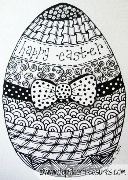 Easter Zendoodle Zoe Ford Jpg 419 586 Ostern Zeichnung Malvorlagen Ostern Ausmalbilder