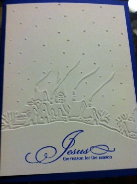 Handmade Blank-Boxed Jesus is the Reason Christmas Card (12 Cards & Envelopes) #Handmade #Christmas